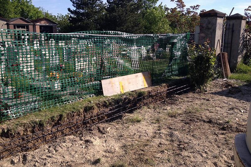 Rifacimento muro perimetrale cimitero
